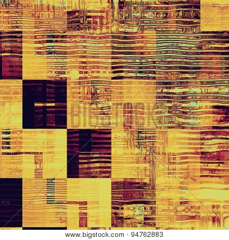 Aging grunge texture, old illustration. With different color patterns: yellow (beige); brown; cyan; purple (violet)