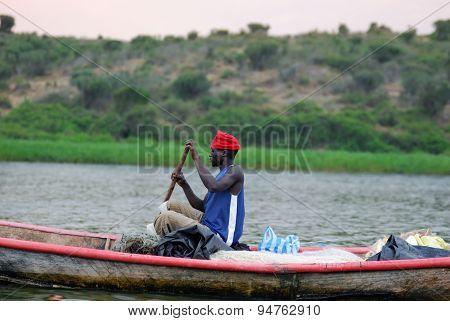 Fisherman On The Victoria Nile