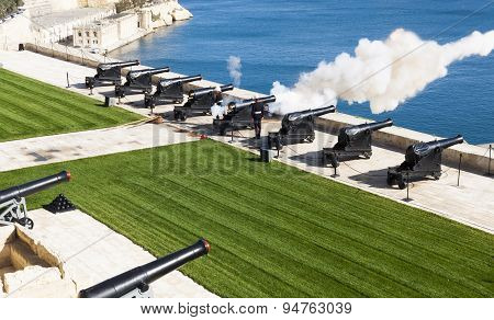 Maltese Saluting Battery At Noon