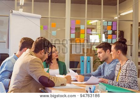 Business people during a meeting at the office