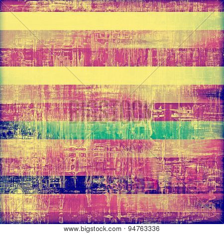 Old abstract texture with grunge stains. With different color patterns: yellow (beige); blue; green; purple (violet)