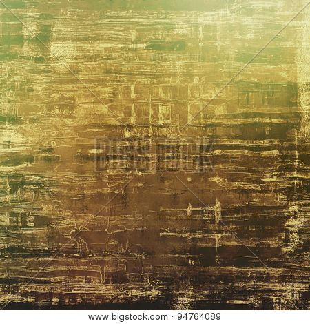 Grunge texture, Vintage background. With different color patterns: yellow (beige); brown; gray; green