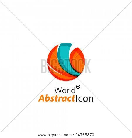 Abstract geometric business corporate emblem globe, world, circle. Logo icon design for travel or any other idea