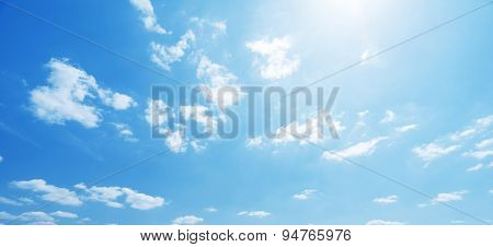 sky and perfect sunny day