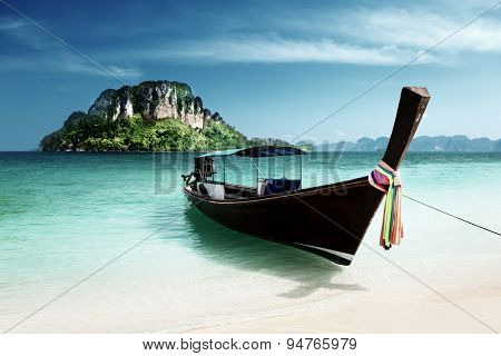 long boat and poda island, Thailand