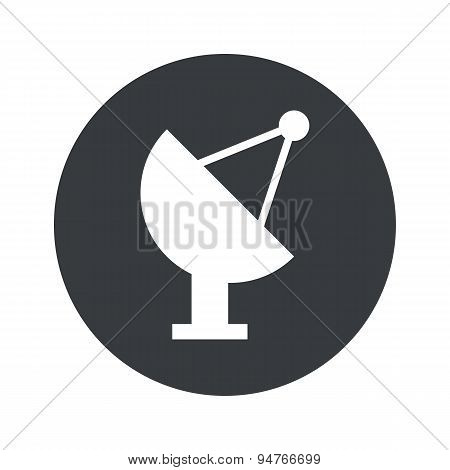 Monochrome round satellite dish icon
