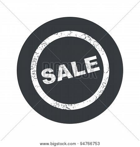 Monochrome round SALE sign icon