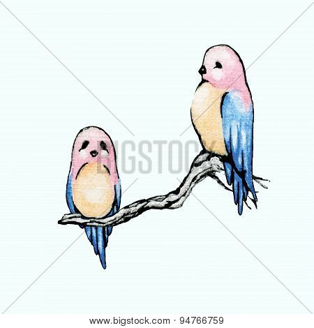 A Birds With A Pink Head