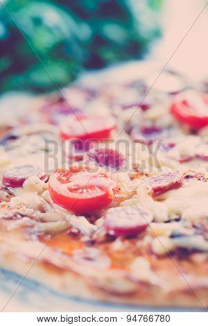 Homemade classic pizza