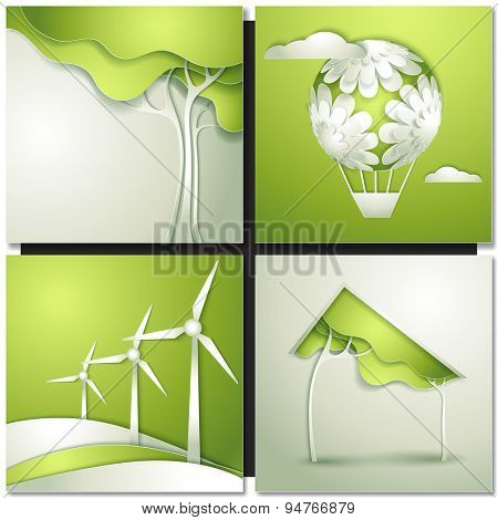 Eco background -go green concept stock vector.