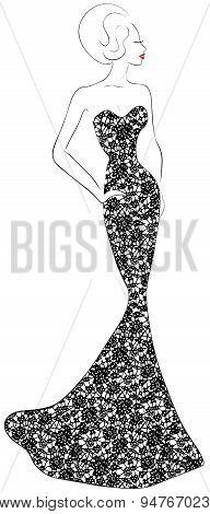 evening lace dress