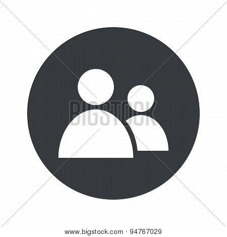 Monochrome round contacts icon