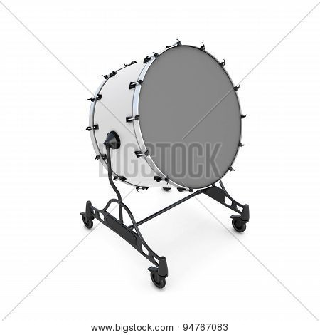 Bass Drum On A White
