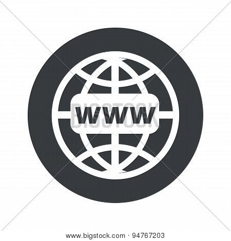 Monochrome round global network icon