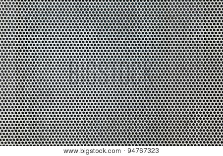Stainless steel grille background