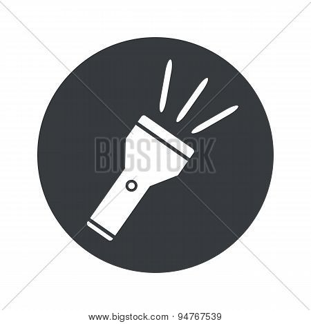 Monochrome round flashlight icon