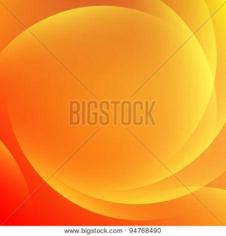 Orange light gradient abstract background