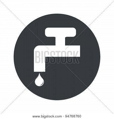 Monochrome round water tap icon