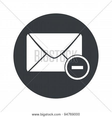 Monochrome round remove letter icon