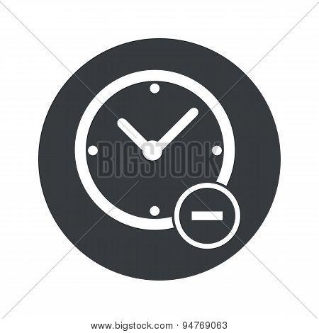 Monochrome round reduce time icon