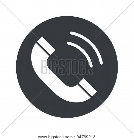 Monochrome round calling icon