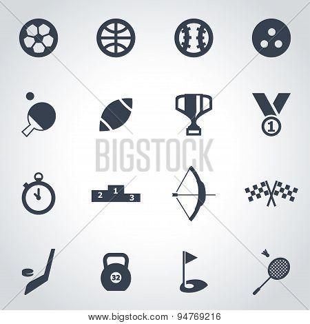 Vector black sport icon set