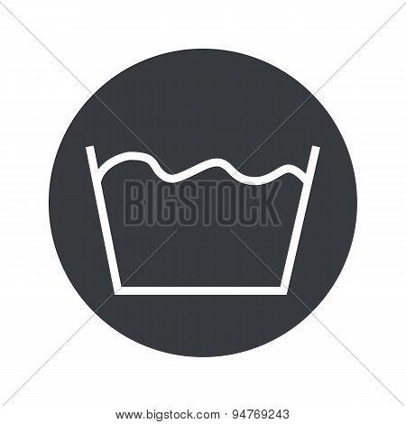 Monochrome round wash icon