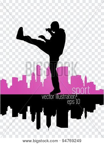 Karate vector, sport illustration