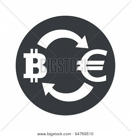 Monochrome bitcoin euro exchange icon