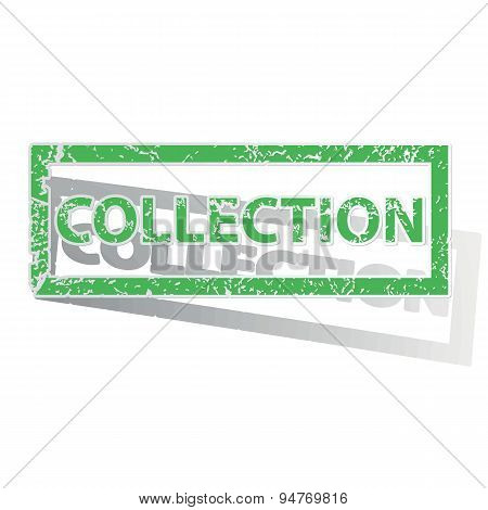 Green outlined COLLECTION stamp