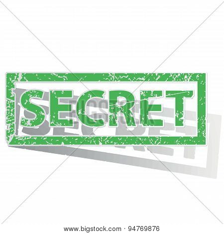 Green outlined SECRET stamp
