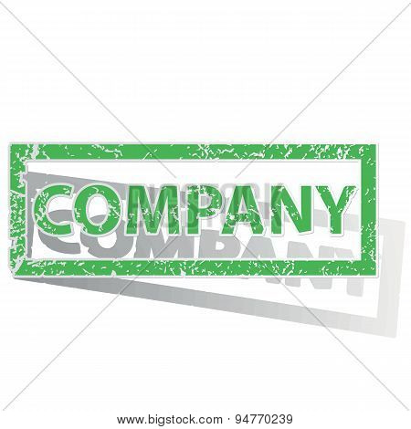 Green outlined COMPANY stamp