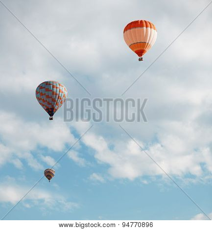 Air Balloons In Blue Sky
