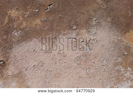 Old Textured Background Of Destroyed Brown Wall
