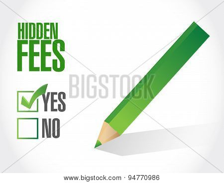 Yes To Hidden Fees Sign Concept