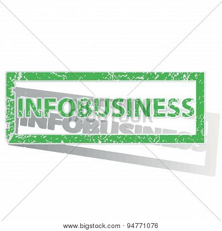 Green outlined INFOBUSINESS stamp