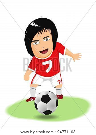 Cartoon Soccer, Vector Clipart Illustration
