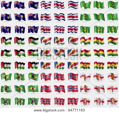 Turks And Caicos, Costa Rica, Mauritania, Western Sahara, Seychelles, Ghana, Brazil, Norway, Guernse