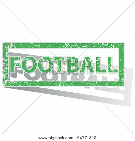 Green outlined FOOTBALL stamp