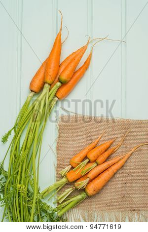 Carrots On A Wooden Table