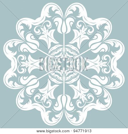 Orient Abstract  White Pattern