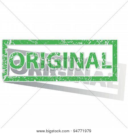 Green outlined ORIGINAL stamp