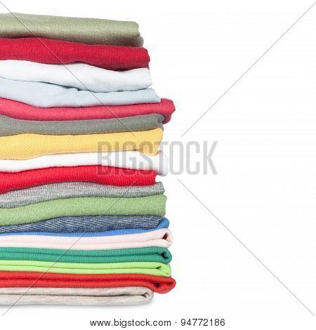 stack of new colorful clothes