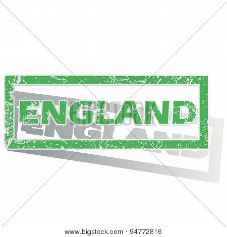 Green outlined England stamp