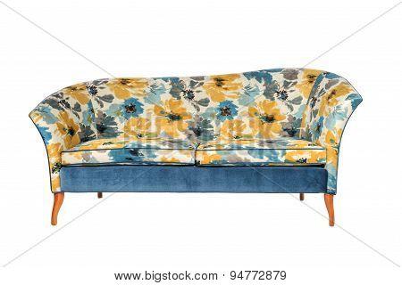 Sofa 2 Seater Bright Antique Retro Bright Pattern Material