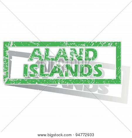 Green outlined Aland Islands stamp