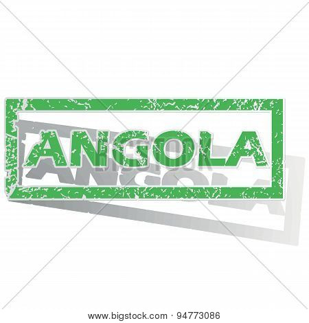 Green outlined Angola stamp