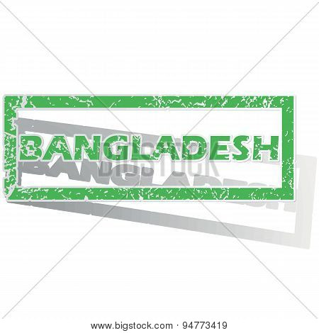 Green outlined Bangladesh stamp