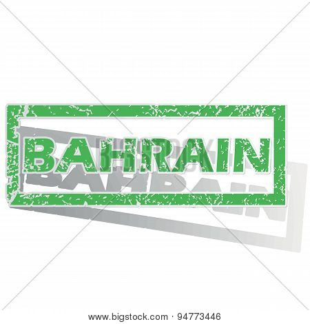 Green outlined Bahrain stamp