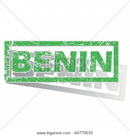 Green outlined Benin stamp